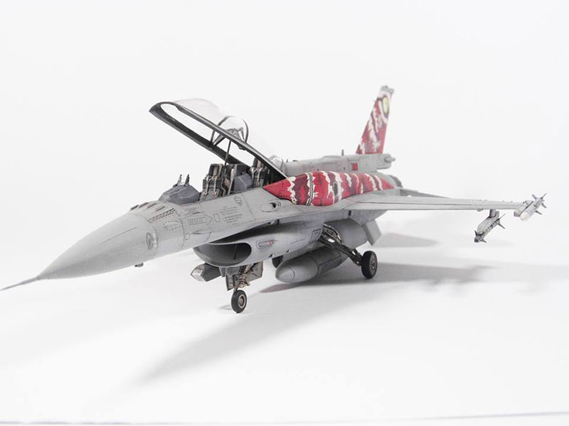 F-16 D, 1:48 Kinetic, 08.2016
