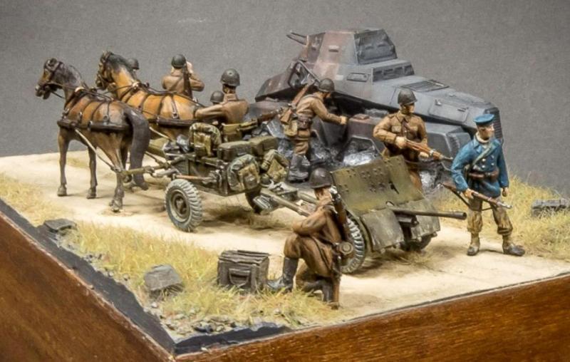 37 mm armata p.panc. wz.36, skala 1:72