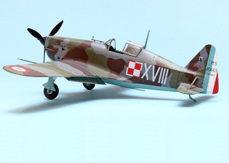 Morane Saulnier MS-406C1: Hasegawa 1/72